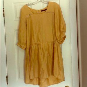 Yellow Zara Basic dress